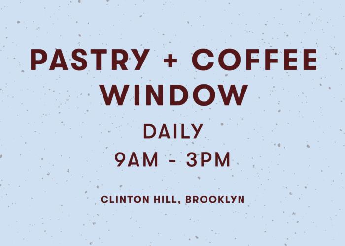 Pastry + Coffee Window