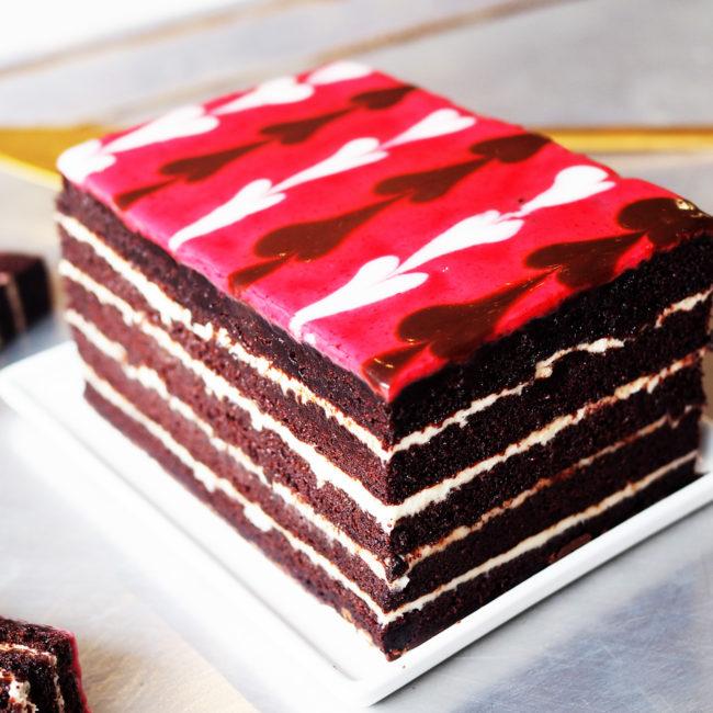 Queen of Hearts Cake vegan gluten-free layer cake NYC Brooklyn